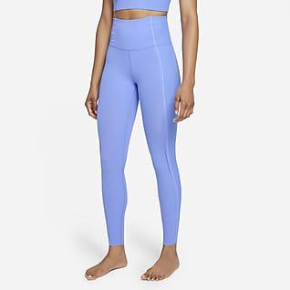 Nike Yoga Luxe Dri-FIT Leggings Infinalon i 7/8-längd med hög midja för kvinnor
