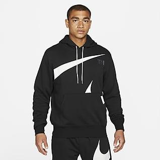 Nike Sportswear Swoosh Pánská mikina skapucí apoločesaným rubem