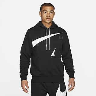 Nike Sportswear Swoosh Pullover-hættetrøje med semi-børstet bagside til mænd