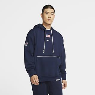 Nike Team USA Standard Issue Sudadera con capucha sin cierre de básquetbol para hombre