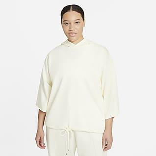 Nike Sportswear Icon Clash Kortärmad huvtröja för kvinnor (Plus Size)