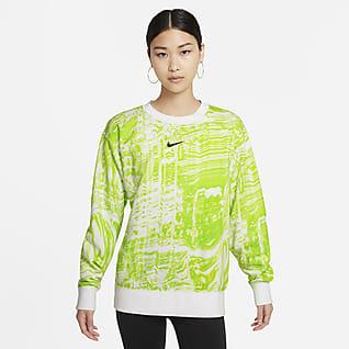 Nike Sportswear Dámská taneční flísová mikina s kulatým výstřihem