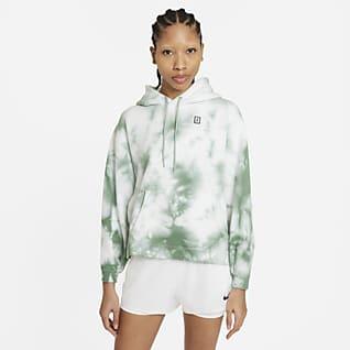 NikeCourt Sudadera con capucha de tenis desteñida para mujer