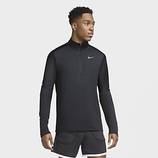 Nike Dri-FIT Pánské běžecké tričko se zipem v poloviční délce