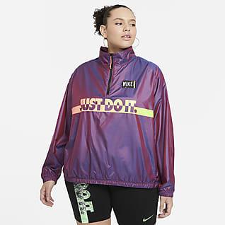 Nike Sportswear Γυναικείο υφαντό φούτερ τζάκετ (μεγάλα μεγέθη)