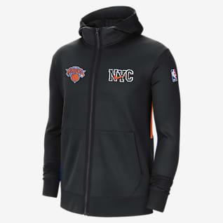 New York Knicks Showtime City Edition Męska bluza z kapturem NBA Nike Therma Flex