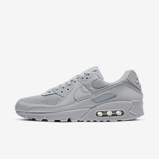 Men and Women's Nike Air Max 90 Essential Black Grey White On Sale