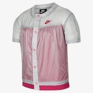 Nike Air 大童(女孩)梭织短袖上衣
