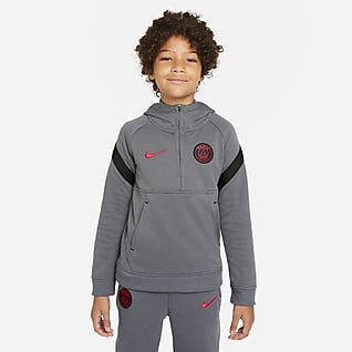 Paris Saint-Germain Dzianinowa bluza piłkarska z kapturem i zamkiem 1/2 dla dużych dzieci
