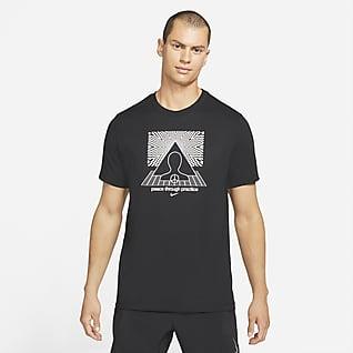 Nike Yoga Dri-FIT Tee-shirt à motif pour Homme