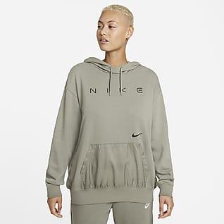 Nike Sportswear Γυναικεία φλις μπλούζα με κουκούλα σε φαρδιά γραμμή
