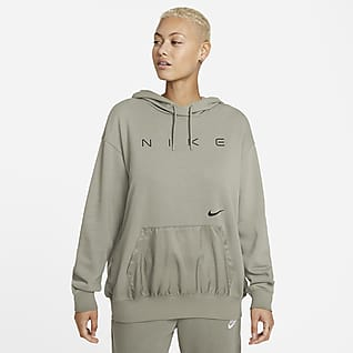 Nike Sportswear Hoodie folgado de lã cardada para mulher