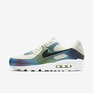Men's Red Nike Air Max 90 Trainers with