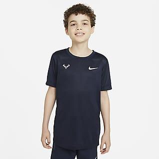 Rafa T-shirt do tenisa dla dużych dzieci (chłopców)