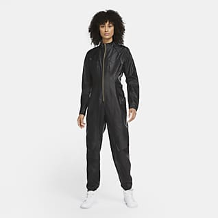 Jordan Court-To-Runway Flightsuit de simil cuero para mujer