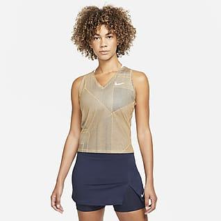 NikeCourt Victory Camiseta de tirantes de tenis con estampado - Mujer