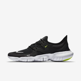 Men's Nike Running Shoes Black White Barefoot Feeling