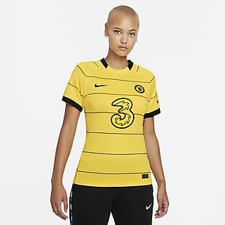 Chelsea FC 2021/22 Stadium (bortaställ) Fotbollströja Nike Dri-FIT för kvinnor