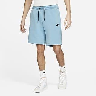 Nike Sportswear Tech Fleece Męskie spodenki z efektem sprania