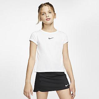 NikeCourt Dri-FIT Teniszfelső nagyobb gyerekeknek (lányoknak)