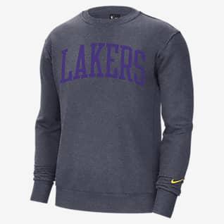 Los Angeles Lakers Courtside Heritage Men's Nike NBA Fleece Crew Sweatshirt
