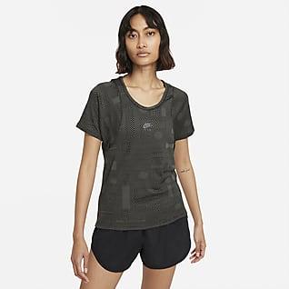 Nike Air Dri-FIT Γυναικεία κοντομάνικη μπλούζα για τρέξιμο