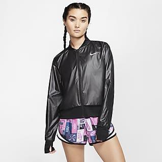 Nike Damen-Laufjacke mit durchgehendem Reißverschluss