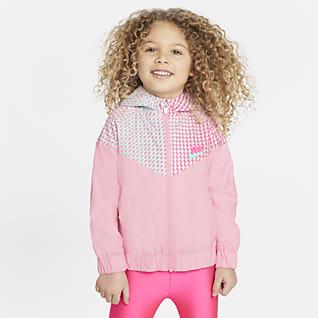 Nike Sportswear Windrunner Chamarra infantil estampada con cierre completo para bebé