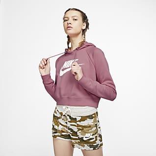 Nike Sportswear Essential Sudadera con capucha recortada para mujer