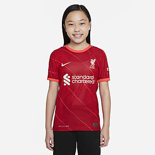 Домашняя форма ФК «Ливерпуль» 2021/22 Match Футбольное джерси для школьников Nike Dri-FIT ADV