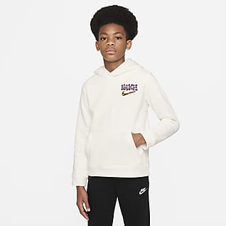 Nike Sportswear Sudadera con gorro sin cierre para niño talla grande