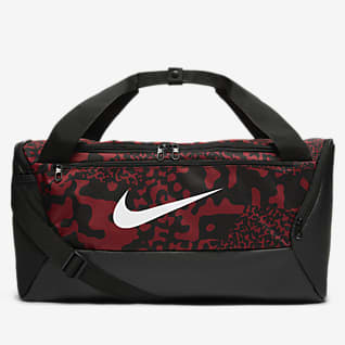 Nike Brasilia กระเป๋า Duffel เทรนนิ่งพิมพ์ลาย (ขนาดเล็ก)