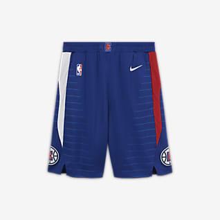 LA Clippers Icon Edition Nike NBA-Shorts Swingman för ungdom