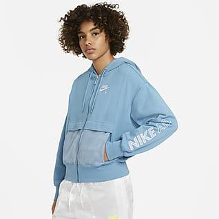 Nike Air Prenda superior de tejido Fleece con cierre completo para mujer