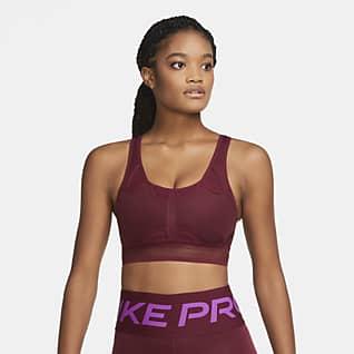 Nike Swoosh UltraBreathe Sujetador deportivo sin almohadilla de sujeción media para mujer