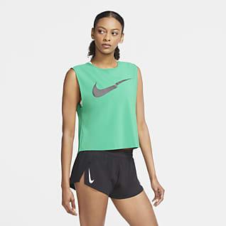 Nike Run Division Женская беговая майка со складками