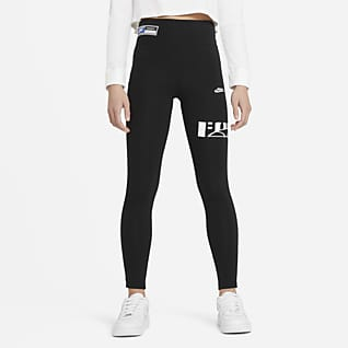 Nike Sportswear Favorites Leggins de cintura alta para niña talla grande