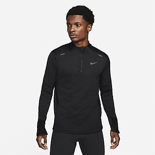 Nike Therma-FIT Repel Element Pánské běžecké tričko se zipem v poloviční délce