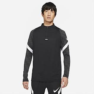 Nike Dri-FIT Strike Męska treningowa koszulka piłkarska z zamkiem 1/4