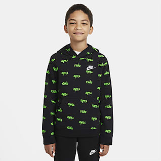 Nike Sportswear Felpa pullover stampata con cappuccio - Ragazzo