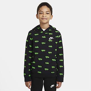 Nike Sportswear Baskılı Genç Çocuk (Erkek) Kapüşonlu Sweatshirt'ü