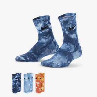 Nike Calcetines largos tie-dye para niños talla pequeña (3 pares)