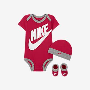 Nike Conjunto de body, gorro y calzado para bebés (0 a 6 meses)