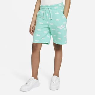 Nike Sportswear Big Kids' (Boys') Fleece Printed Shorts