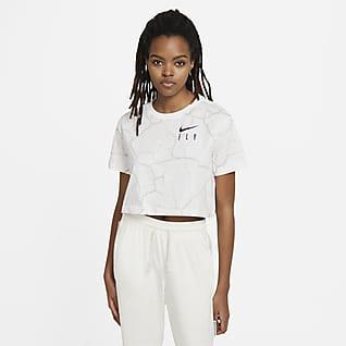 Nike Swoosh Fly Kurz-Basketball-T-Shirt für Damen