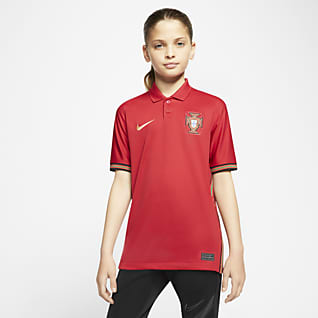 Portugal 2020 Stadium Home Футбольное джерси для школьников