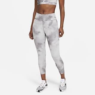Nike One Icon Clash Leggings cropped de tiro medio para mujer