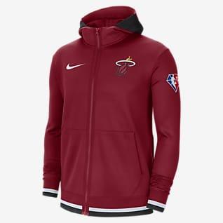 Miami Heat Nike Showtime Felpa con cappuccio e zip a tutta lunghezza Nike Dri-FIT NBA - Uomo