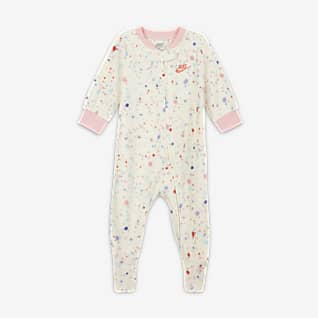 Nike Baby (0-9M) Footed Full-Zip Coverall