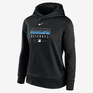 Nike Therma (MLB Miami Marlins) Women's Pullover Hoodie